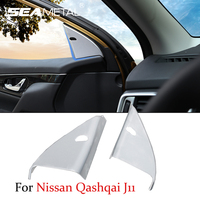 1 Pair Car Styling InnerTriangle Sequins Door Window Sequins For Nissan Qashqai J11 2nd 2014 2015