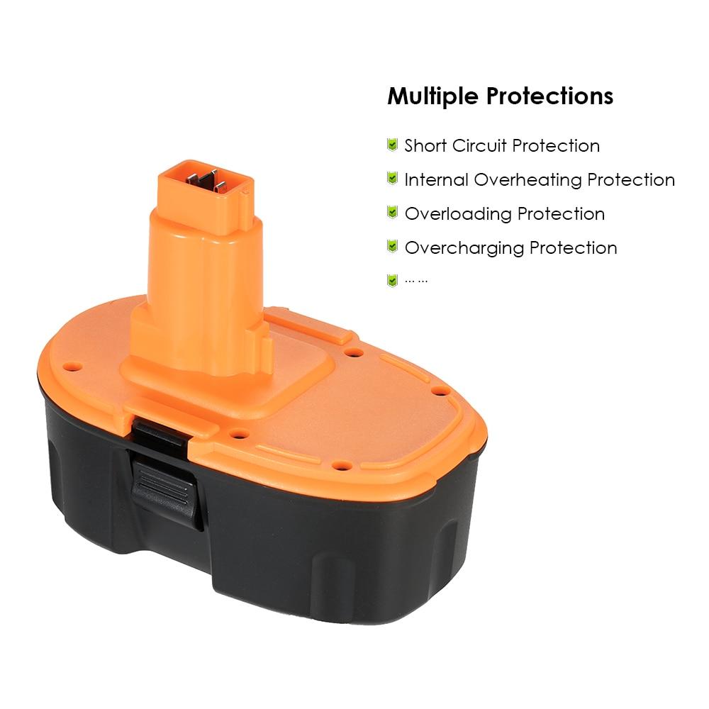 DC9096 18V 3.0Ah High Capacity  Power Tools Battery Rechargeable Ni-Cd Replacement Battery replacement battery Pack for DEWALT 1314702 1400656 1400671 130224010 battery for ryobi 14 4v ni cd 2 0ah rechargeable power tool battery t40