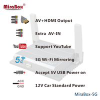 Двухдиапазонный Wi Fi Карро Mirabox Wi Fi Mirrorlink Поддержка ios/ios10/Andriod 7,0/PC/ноутбука/WINDOWS 1080 P MiraBox 5 г Wi Fi Car Mirabox