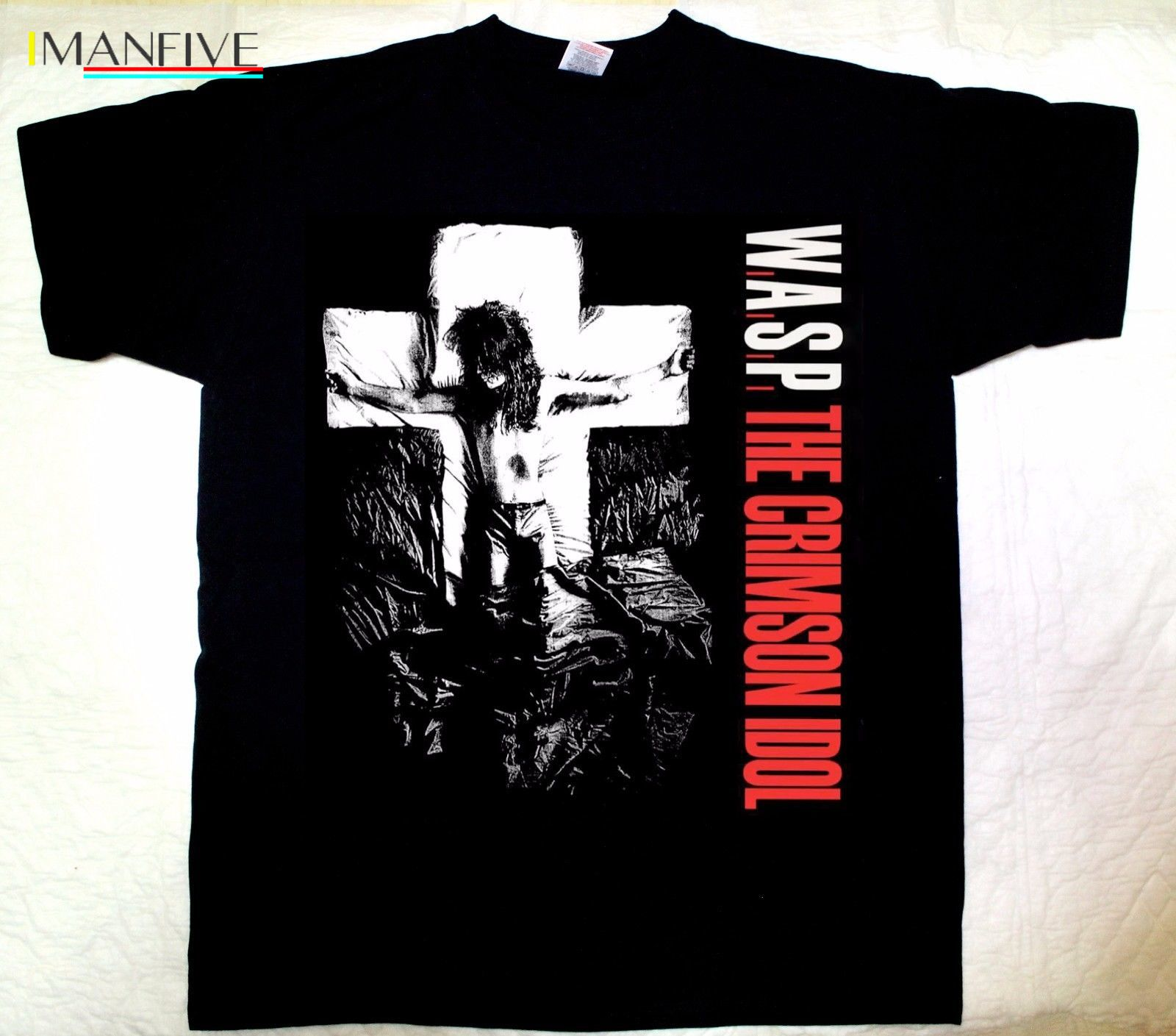 W A S P CRIMSON IDOL 39 92 HEAVY METAL BAND WASP TWISTED SISTER NEW BLACK T SHIRT 2019 Hot Sale New Men 39 S T Shirt in T Shirts from Men 39 s Clothing