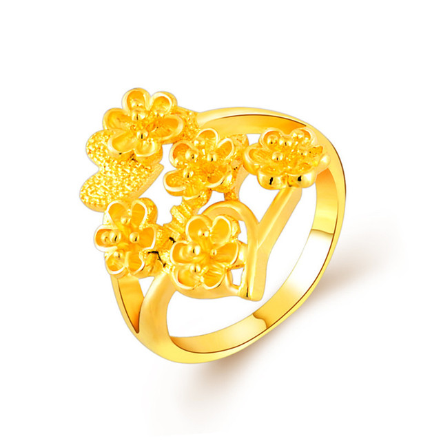 2017 Trendy Gold finger Rings for Girls Flower Style Cheap