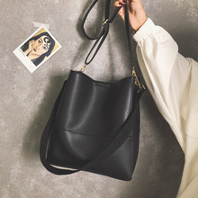 C43-08 2019 女性のバッグ 新しい韓国シンプルなショルダーバッグ複合バッグ大容量バケットメッセンジャーバッグ