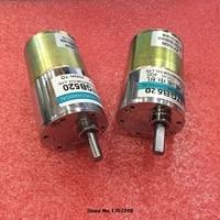 Envío Libre 12 V/24 V 10 W miniatura motor de CORRIENTE CONTINUA orientada alto par a baja velocidad pueden velocidad ajustable/eléctrico reversible herramientas
