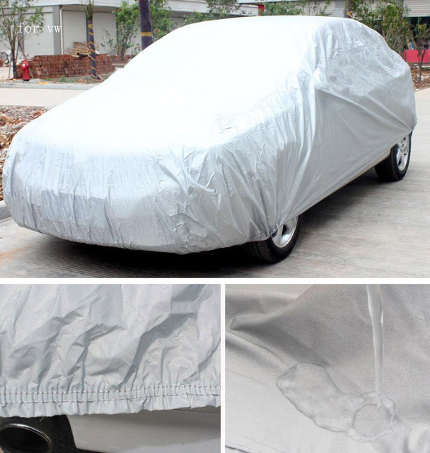 Para volkswagen vw tiguan polo passat golf escarabajo zorro coche cubre Sombrilla impermeable Anti UV Lluvia Nieve Polvo Proteger la cubierta del coche