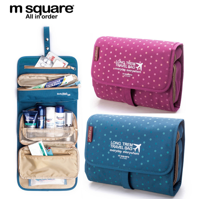 M Square Beautician Travel Cosmetic Bag Organizer Toiletry Makeup Bag Organizador Wash Make Up Bag Bolsa Neceser Maquillaje Case
