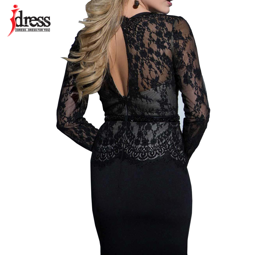 IDress New Sexy Lace Vintage Mermaid Elegant Long Maxi Dress Formal Party Women Gown Special Occasion Dresses 2018 Vestido Longo (5)