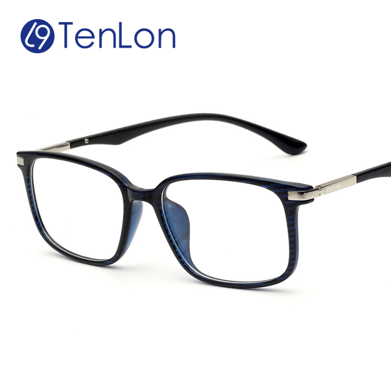 tenlon glasses big frame classic square eye glasses for men basic computer glasses frame women oculos