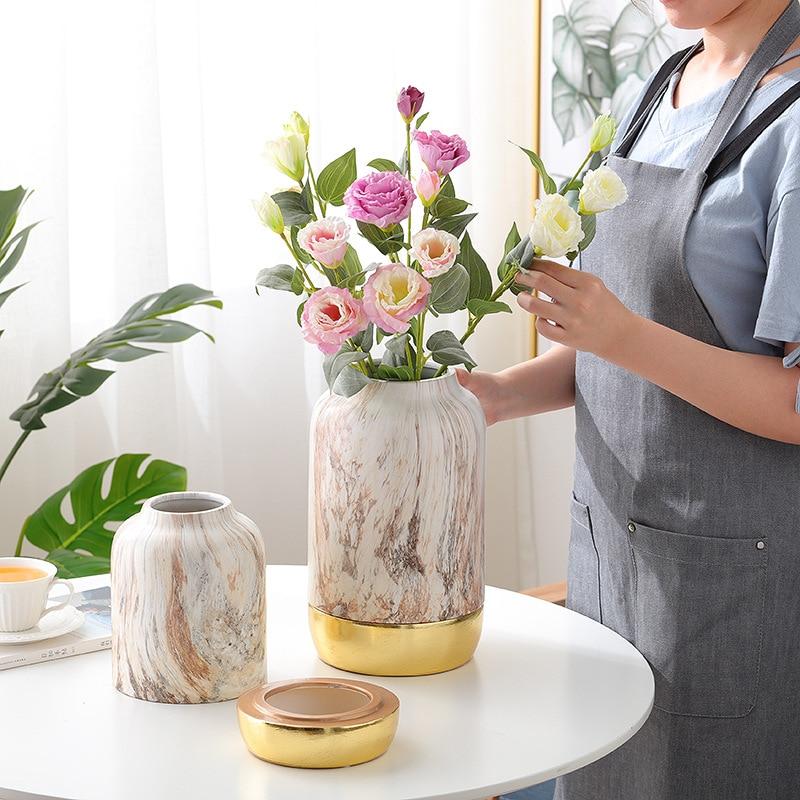 Decoración Del Hogar Arreglos Florales Jarrón De Cerámica