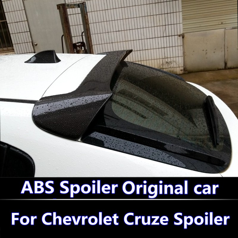 For Chevrolet Cruze Spoiler hatchback ABS Material Car Rear Wing Primer Color Rear Spoiler For Chevrolet Cruze Hatchback spoiler replacement 1 8sx dash board electroplating abs decorative ring for cruze silver