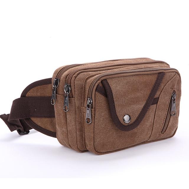 Canvas Waist Belt Bag For Men Bum Fanny Waist Pack Bags Celular Military Bicycle Equipment Male EDC Phone Cases saco de pancada