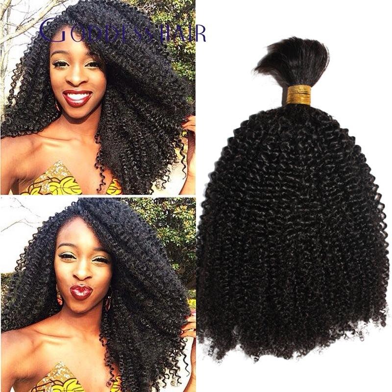 Brazilian Virign Kinky Curly Human Braiding Hair Bulk 100gpiece Top