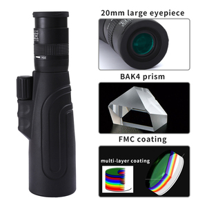 Image 2 - SCOKC monoküler 8 20x50 yüksek güçlü Zoom monoküler teleskop FMC BAK4 prizma avcılık konser seyahat yaban hayatı sahne