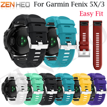 26mm Watchband Strap for Garmin Fenix 5X Smart Watch Quick Release Silicone Easy fit Wrist For Garmin Fenix 3HR/3 Band Strap strap stainless steel for garmin fenix 5x fenix 3hr fenix 3 2 1 smart watches band silicone watch wrist band 12 14