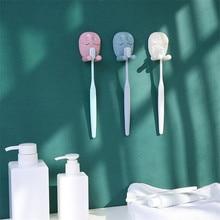 1 pcs Bathroom Toothbrush Holder Wall Mount Cute Owl Sucker Suction Organizer Stand