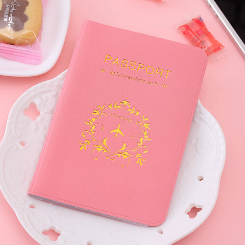 1pc Fashion New Passport Holder Documents Bag Sweet Trojan Travel Passport Cover Card Case Travel Accessories hot overseas travel accessories passport cover luggage accessories passport card secret garden