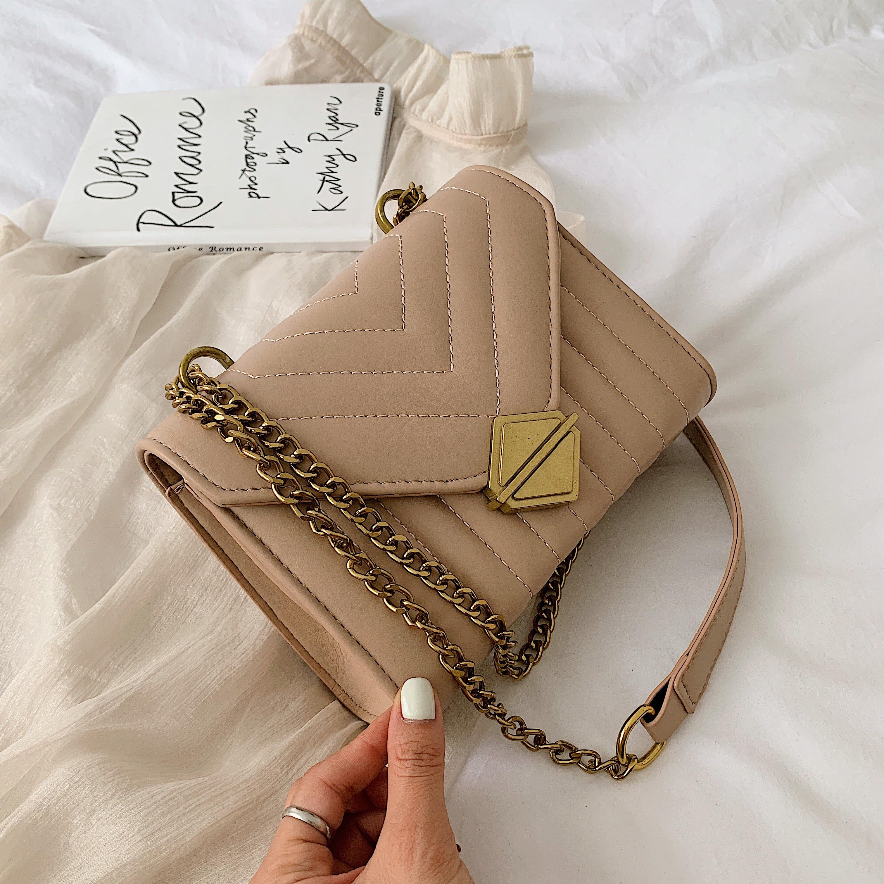 Chain Pu Leather Small Crossbody Bags For Women 2020 Fashion Ladies Shoulder Messenger Bag Female Travel Simple Handbags