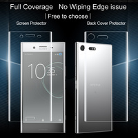 2PCS Full coverage for Sony Xperia XZ Premium Screen protector and Back cover protector Imak All Standing full boday Film