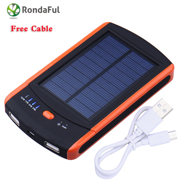 Actual capacity 6000 mAh resistance Waterproof Solar Power Bank Travel Portable Charger Enternal Battery Powerbank for Iphone
