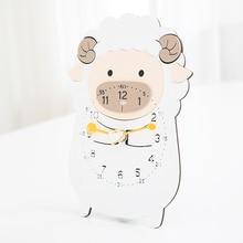 Mandelda Popular&High Quality Animal World Clock Cute MDF+Acrylic Gift Wall