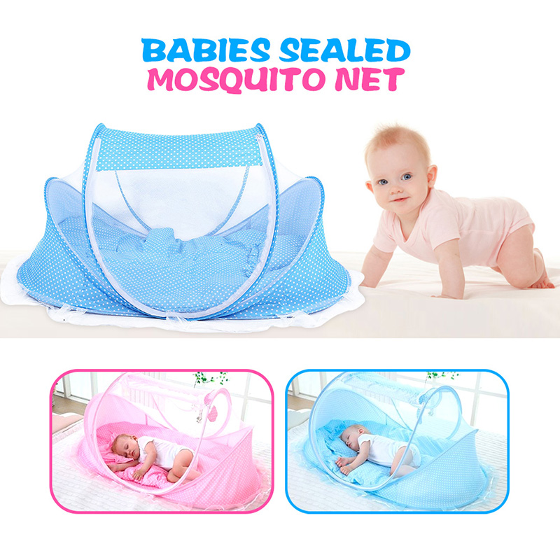 High Quality Version Baby Crib Travel Bed Portable Kids Bed Babies Sealed Mosquito Net Mattress Pillow Mesh Bag Music <font><b>Accessory</b></font>