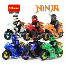 Новые Прибытие Ninjagoes Ниндзя Джей Кай Зейн Cole Lloyd Carmadon С Tornado Мотоцикл Minifigures Строительный Блок Игрушки
