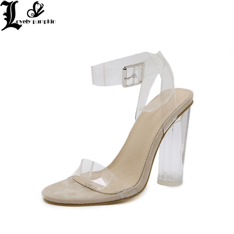 women sandals with elastic Fashion Women Hasp Transparent Thick Heel High Heeled Leisure Shoes Sandals clear shoes women SZ042women sandals with elastic Fashion Women Hasp Transparent Thick Heel High Heeled Leisure Shoes Sandals clear shoes women SZ042