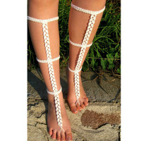 2017 Sexy Chain Anklet Clear Rhinestone Barefoot Sandals Fringe Silver Plated Sparkly Toe Ring Bare Foot