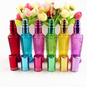 Image 2 - 10 ピース/ロット 15 ミリリットルカラフルなガラスの香水ボトル厚いミニ空の化粧品包装スプレーボトル詰め替えガラスバイアル
