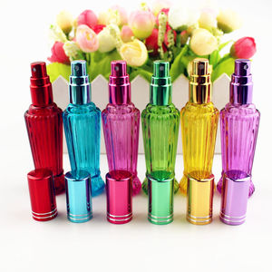 Image 2 - 10 יח\חבילה 15ml צבעוני זכוכית בושם בקבוק עבה מיני ריקים אריזות קוסמטיות בקבוק תרסיס למילוי חוזר זכוכית בקבוקוני
