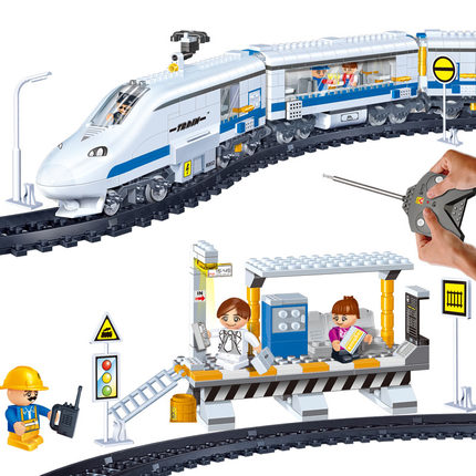 Model building block compatible with city remote control Train rails RC 3D blocks Educational model building toys for child decool 3114 city creator 3in1 vehicle transporter building block 264pcs diy educational toys for children compatible legoe