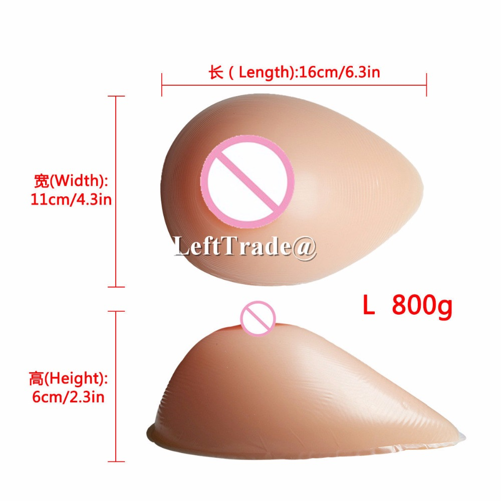 800g C cup teardrop shape fake boobs form crossdresser silicone false artificial breasts free shipping teardrop shape 500 g boobs