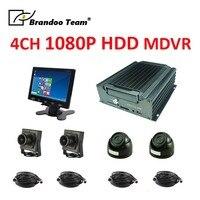 4CH HDD MDVR Автомобильный dvr с авиационный разъем Поддержка HDMI/VGA/CVBS выход