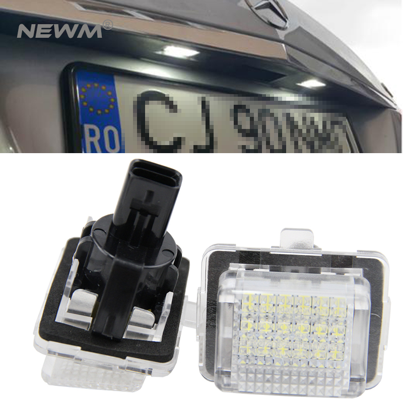 NEW GENUINE MERCEDES BENZ MB A CLASS W176 NUMBER LICENSE PLATE LIGHT LAMP 2PCS