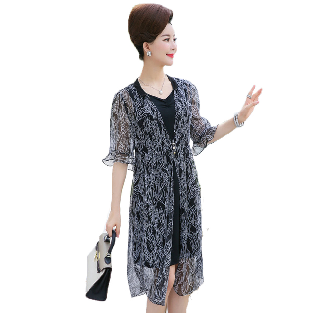 Aliexpress.com : Buy WAEOLSA Middle Aged Woman Chic 2 Pieces ...