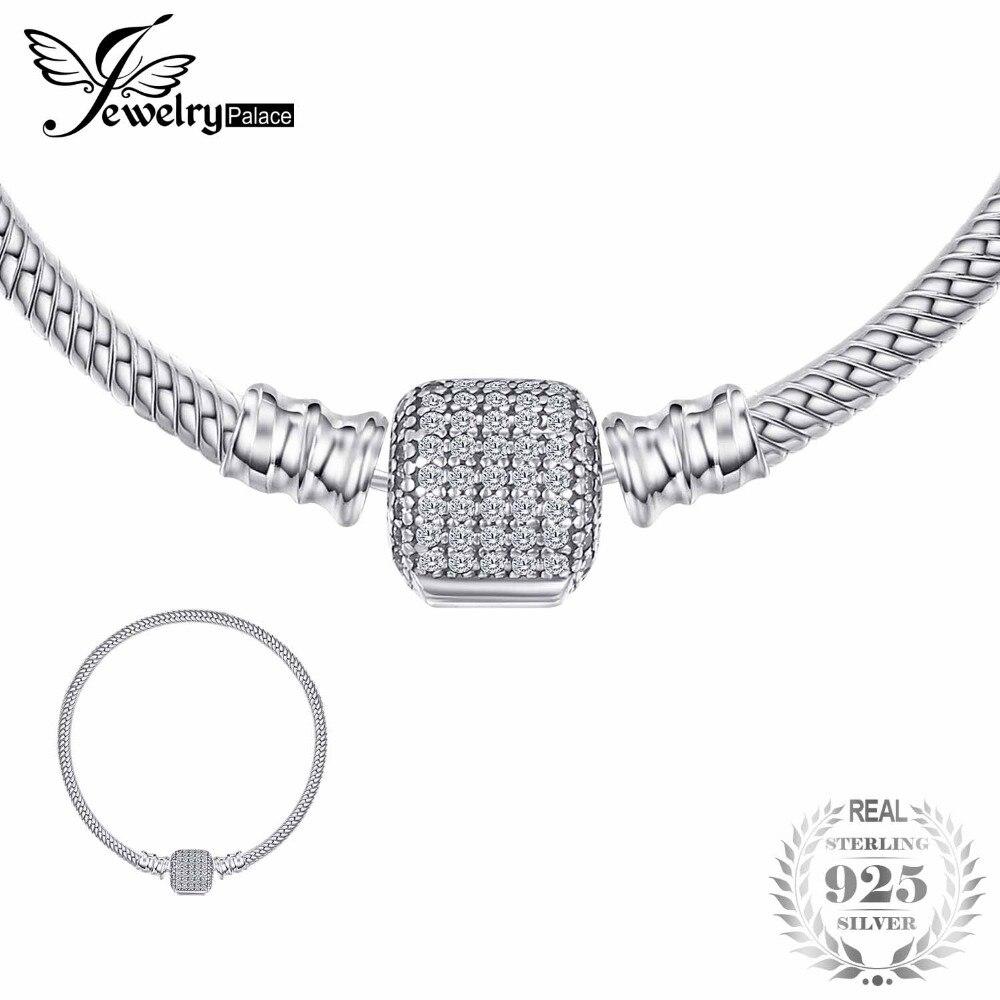 Jewelrypalace Elegante Firma Catenaccio Dei Braccialetti Regali Per Le Donne Regali di Anniversario di Gioelleria raffinata e alla moda 925 Sterling Silver