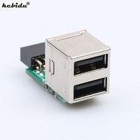 Kebidu Interne PC USB 2 Port 2,0 9Pin Weibliche zu 2 Port EINE Weibliche Adapter Konverter Motherboard PCB Board Karte extender Neue