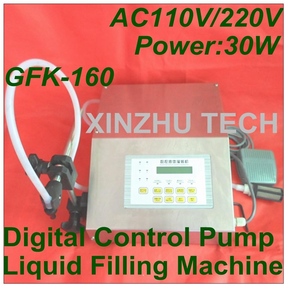 купить GFK-160 Digital Control Pump Drink Water Liquid Filling Machine Water Pumping Filler AC110V/220V 3ml-3500ml по цене 6799.75 рублей