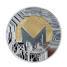 1 шт. монета Monero памятная монета двухцветная виртуальная валюта XMR монеты рукоделие коллекция подарок диаметр 40 мм