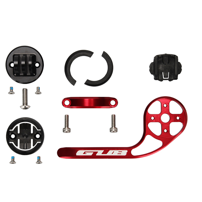 GUB Bicycle-Handlebar-Extender Stopwatch Carbon-Fiber Cycling-Tools Bike Road MTB Red