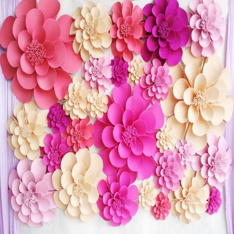 28pcs Set Giant Foam Paper Flowers For Wedding Backdrops