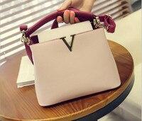 Youe светило новый европейский и американский Стиль женские сумки V письмо кожа сумка OL модная сумка Bolsa feminina fr494