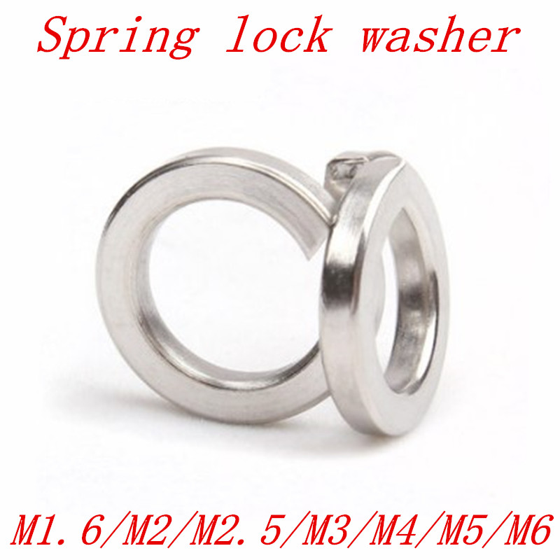 100pcs DIN127 m1.6 m2 m2.5 m3 m4 m5 M6 m8 m10 m12 304 Stainless Steel Spring Washer Split Lock Washers gb93 304 316 stainless steel washers pad spring washers bronze spring washers m2 m3 m4 m5 m6 m8 m10 m12 m14 m16 m30 washer pad