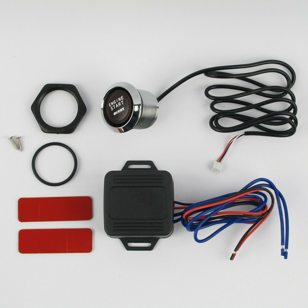 DC 12V Push Engine Start Button Switch Control Easy Installation On Off Starter Car Keyless Replacement LED Light Auto Universal