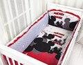 Promoción! 6 unids Mickey Mouse del bebé cuna cuna juegos de cama de bebé cuna Set in cuna animales niño, incluyen ( bumper + hoja + almohada cubre )