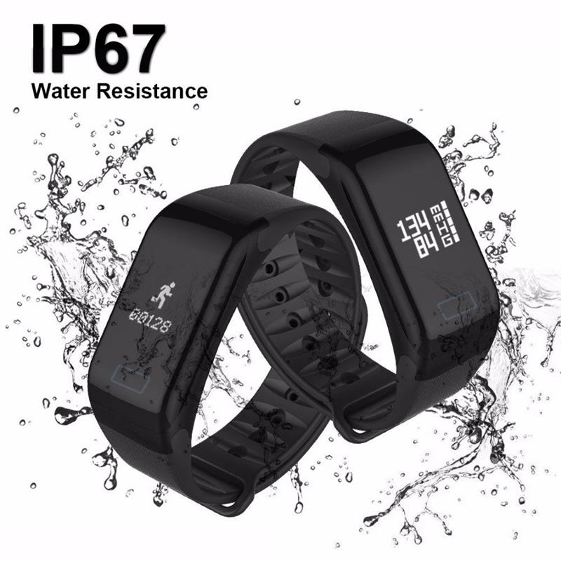F1 Smart Bracelet Waterproof Heart Rate Monitor Blood Pressure Activity Fitness Tracker Pedometer Smart Band For Ios Android