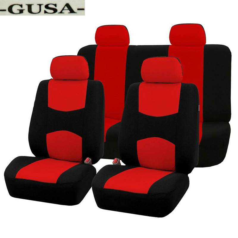 full set black Car seat covers fit Toyota Yaris red