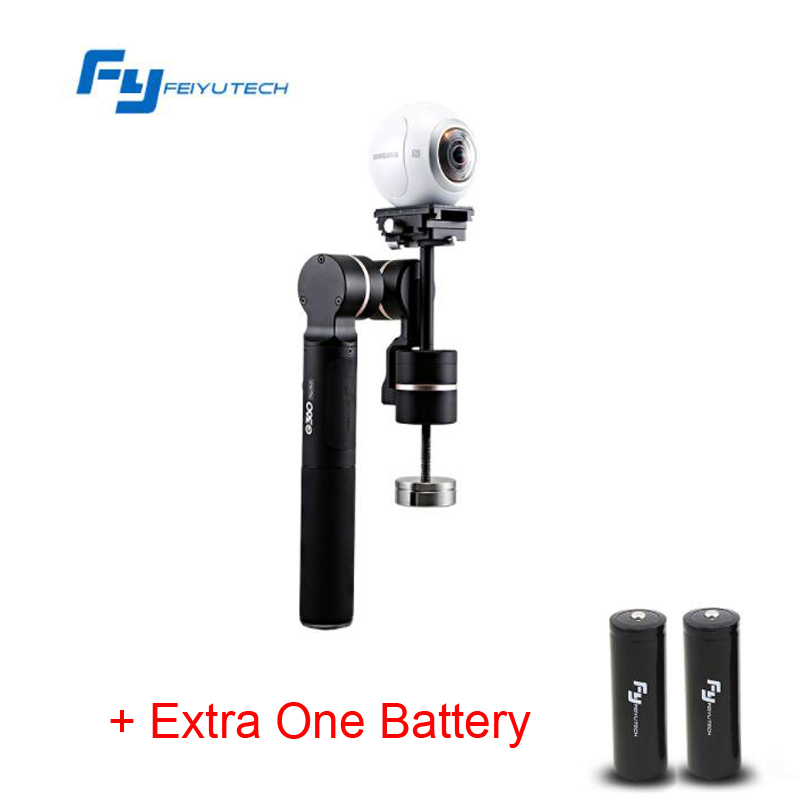 (With Extra One Battery) FY FeiyuTech G360 Handheld Panoramic Camera Gimbal Feiyu 360 limitless panning axis one-press panorama yuneec q500 typhoon quadcopter handheld cgo steadygrip gimbal black