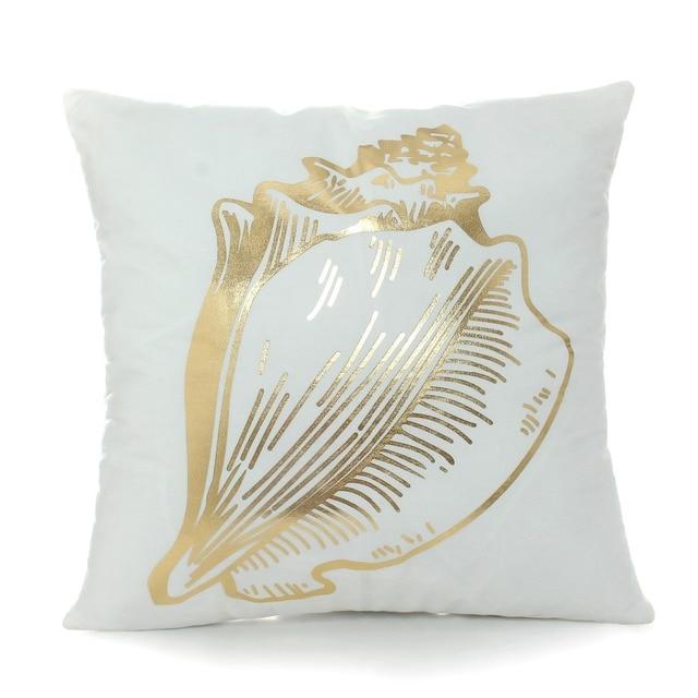 Golden Sea Print Cushion Cover 6