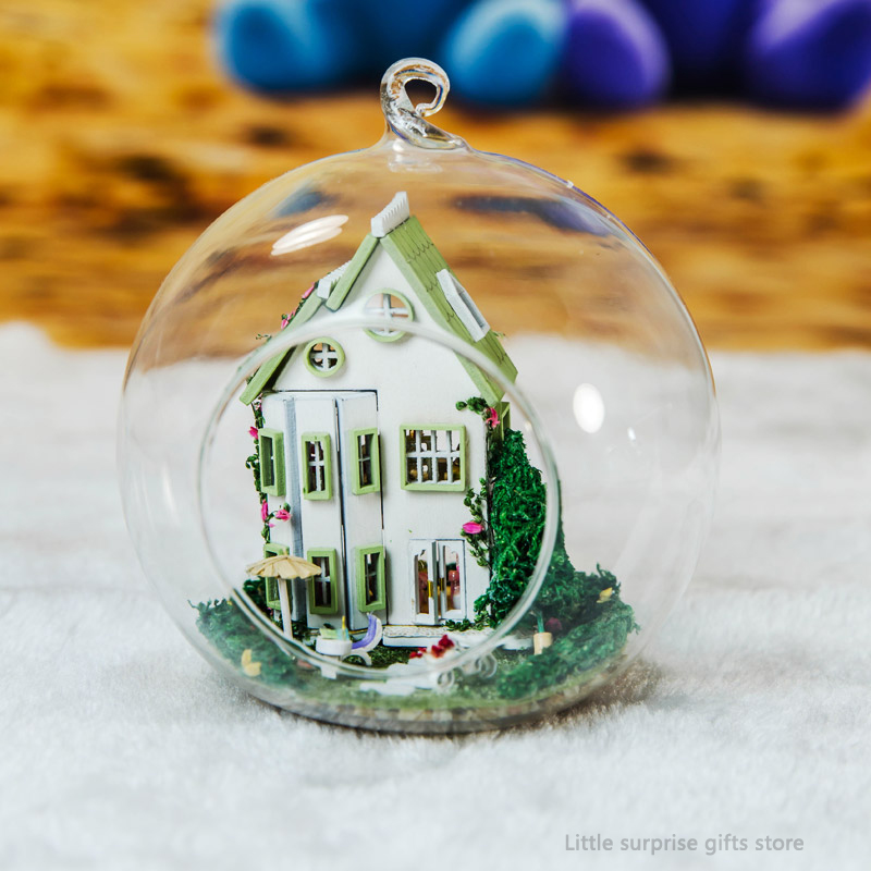Toys & Hobbies Hot Diy Glass Ball 3d Miniature Assemble Model Creative Diary Building Dollhouse Kits With Fantasy Funitures Festival Gifts Low Price Architecture/diy House/mininatures