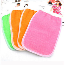 Soft Double-sided Thickening Rayon Material Bath Rub Back Gloves Rubbing Towel 22*14cm Low Stimulating Skin Free Shipping